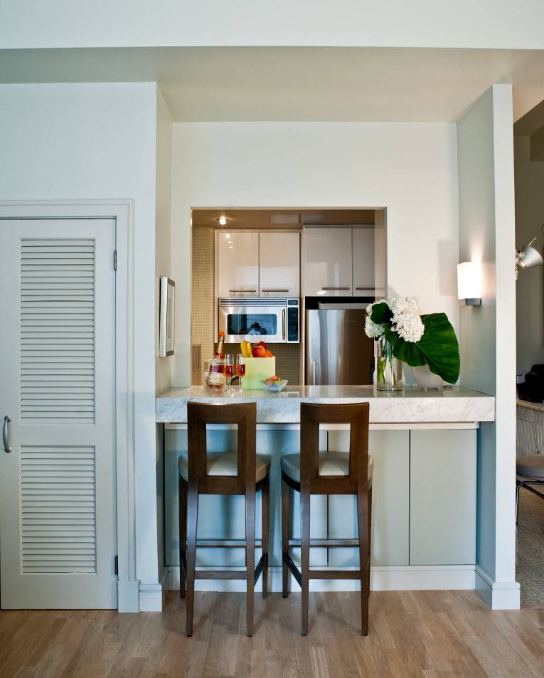 American styled living with small improvised kitchen