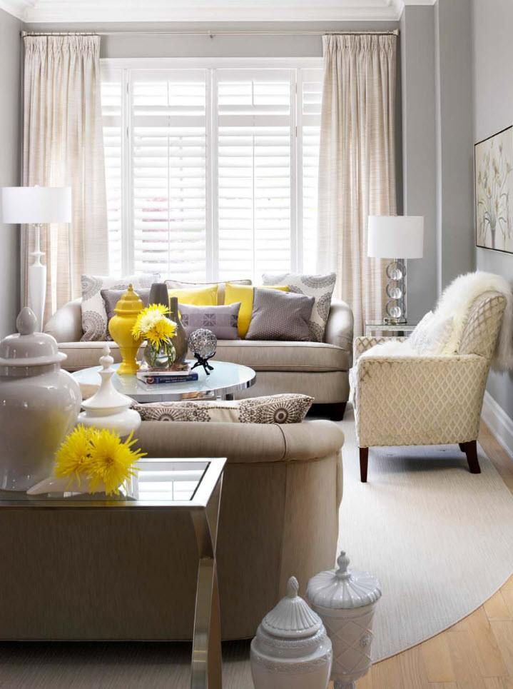 150 Square Feet Living Room Best Arrangement Ideas. Large window and tulle on it for Classic styled interior
