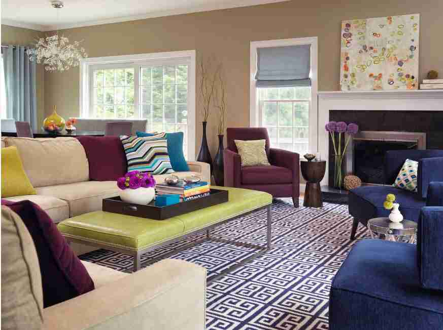 Ivory Interior Decoration Ideas, Photos, Advice. gray and beige combination with small ivory addition for casual styled living