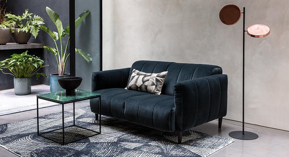 130 Square Feet Living Room most Effective Design Ideas. Just a couch and metal framed black coffee table
