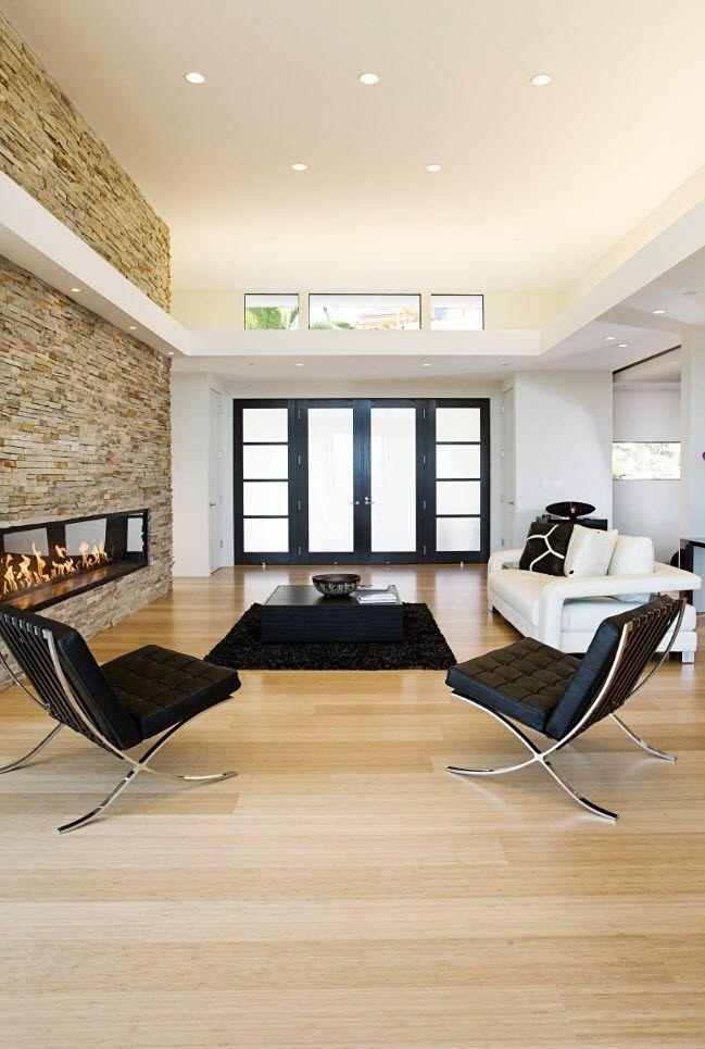 Black furniture on steel frames for modern living room