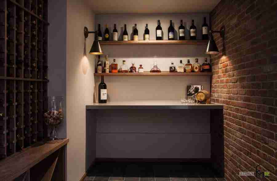 Small improvised cellar at the nook