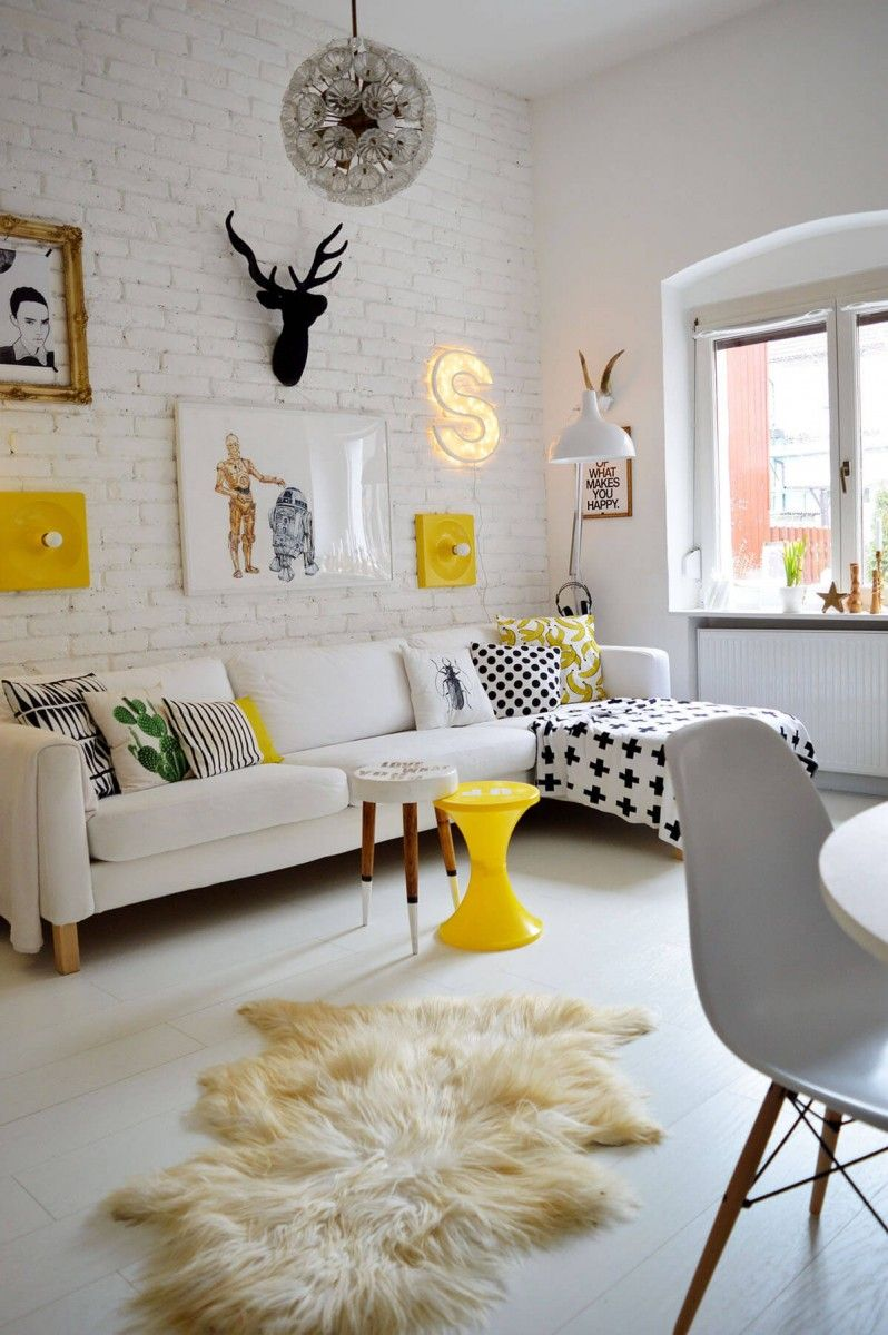 Yellow decorated room