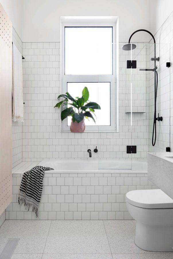 How to Design an All White Bathroom. White metro tile