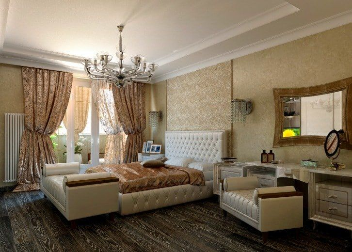 Beige Color Interior Decoration Ideas: Proper Combinations in the open layout Classic living
