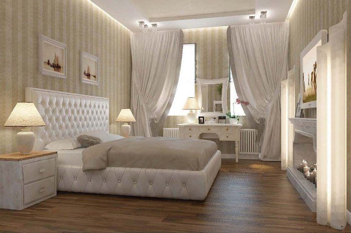 Beige Color Interior Decoration Ideas: Proper Combinations. White mattress for low bed