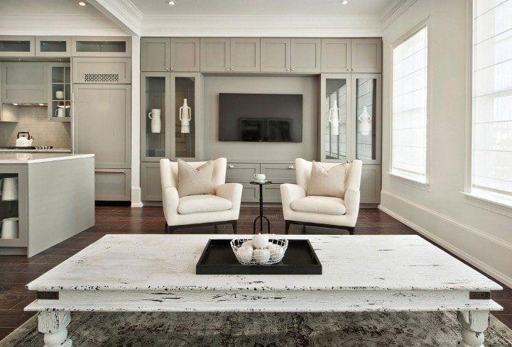 Beige Color Interior Decoration Ideas: Proper Combinations. Minimalistic living room design