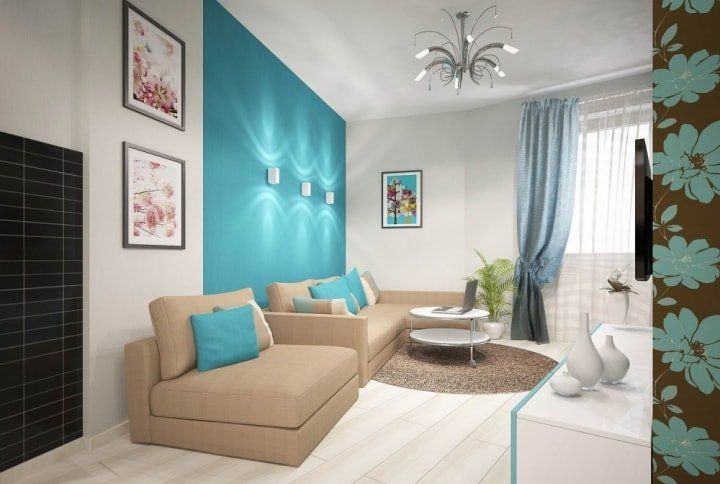Beige Color Interior Decoration Ideas: Proper Combinations, for example with turquoise tint
