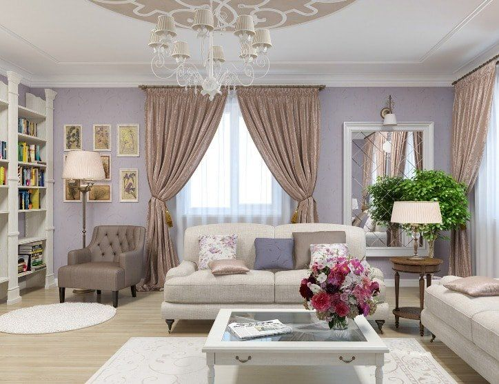 Beige Color Interior Decoration Ideas: Proper Combinations. Classic interior with successful combining of colors