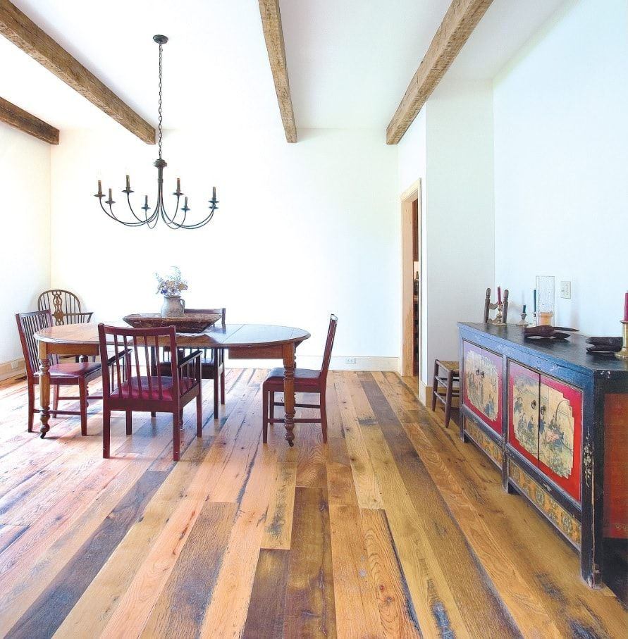 Tips for Keeping Your Hardwood Floors Clean. Noble wooden structure in the ethnic European stylistic in the kitchen
