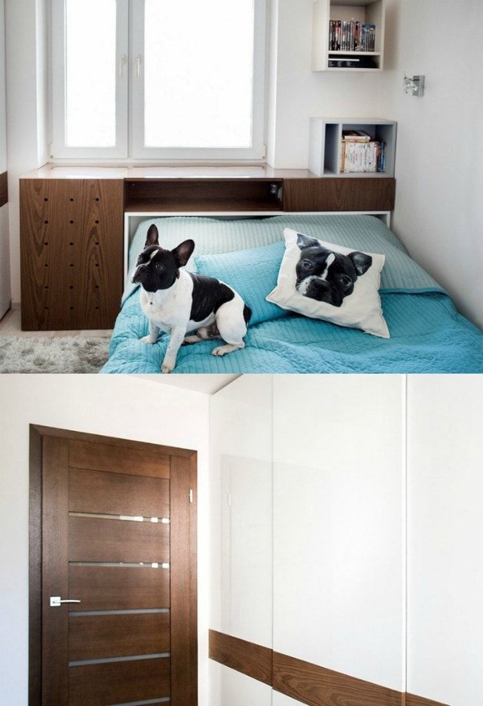 Interior Design Examples Before and After or why We Need a Designer. Small bedroom in light color gamma with wooden furniture