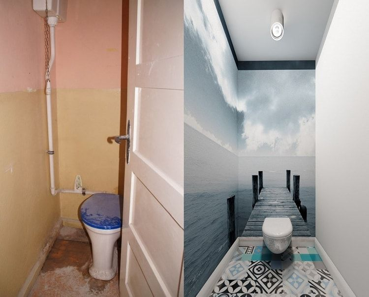 Interior Design Examples Before and After or why We Need a Designer. 3D print for toilet