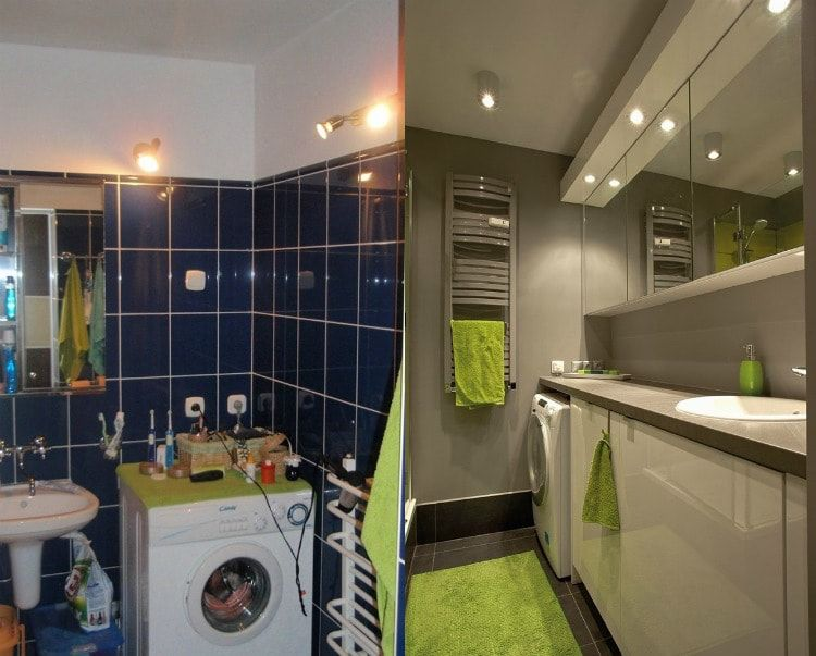 Interior Design Examples Before and After or why We Need a Designer. Modern color gamma do wonders with small bathrooms