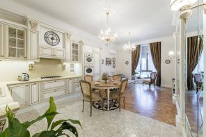 Italian Dining Room & Kitchen Combined in One Space