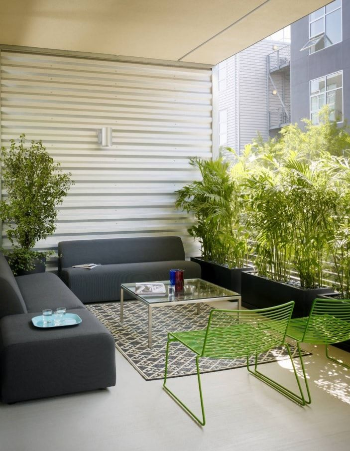 Top 10 Small Apartment Patio Ideas with Photos. Extended loggia to accommodate a living space at the fresh air