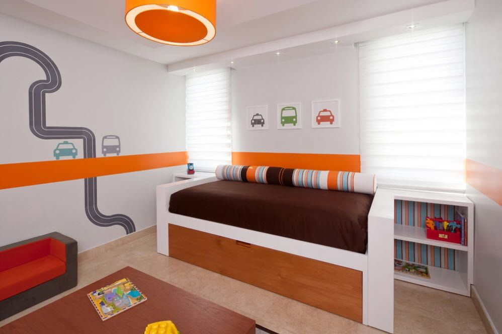Color Therapy for Children's Room: Why Need Proper Color Combination? Orange spots for the children's room