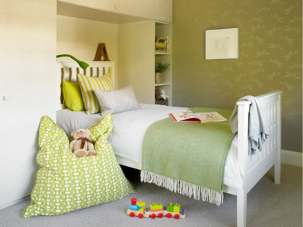 Light green lime shades are the trend to revive the children's room