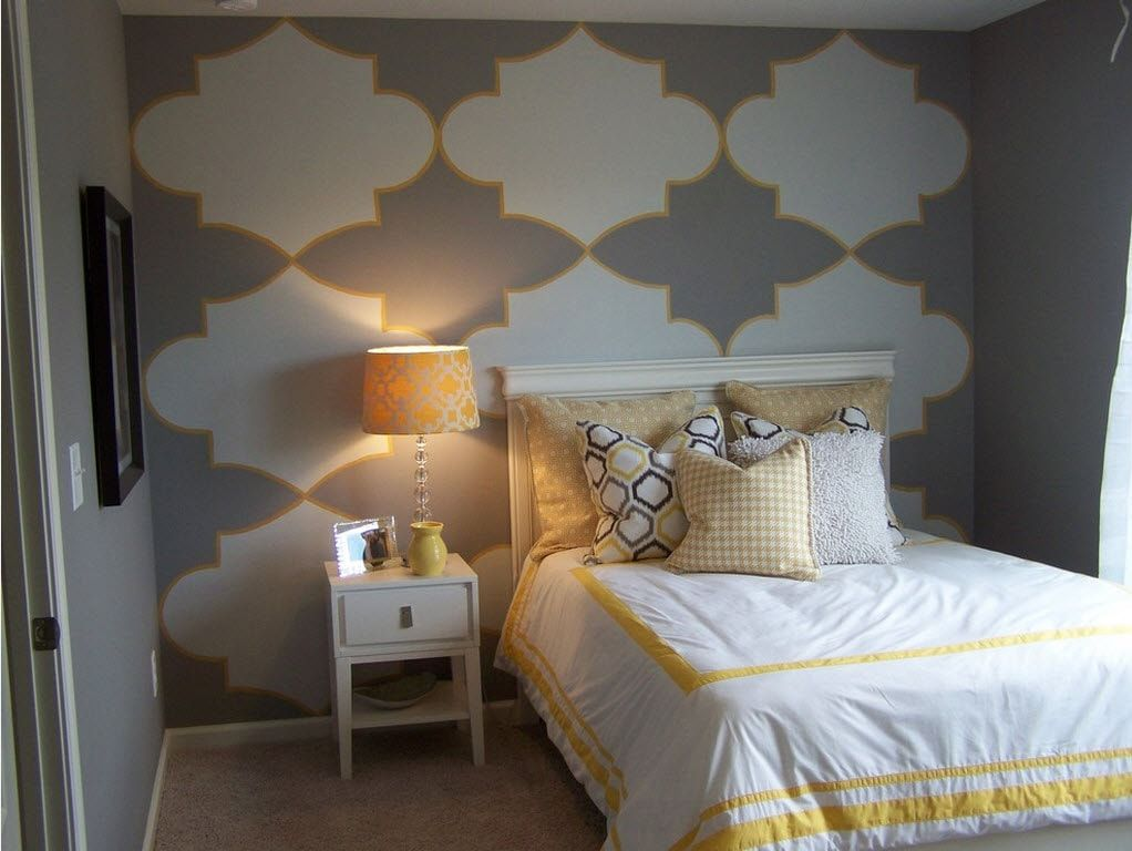 Color Therapy for Children's Room: Why Need Proper Color Combination? Dark vintage symbols as the wall decoration