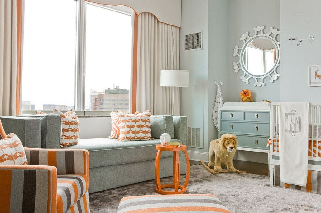 Color Therapy for Children's Room: Why Need Proper Color Combination? Neat carved turquoise Classic furniture