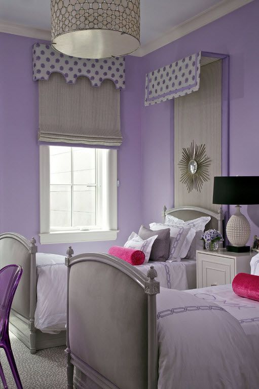 Color Therapy for Children's Room: Why Need Proper Color Combination? Bold vivid purple wall paint