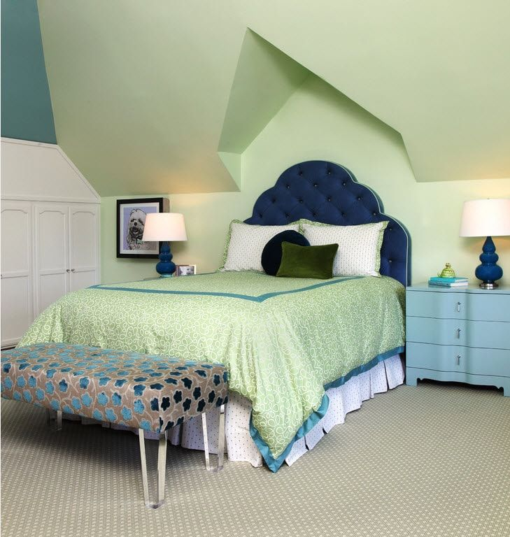 Color Therapy for Children's Room: Why Need Proper Color Combination? Unusual romaticism of mint colored room