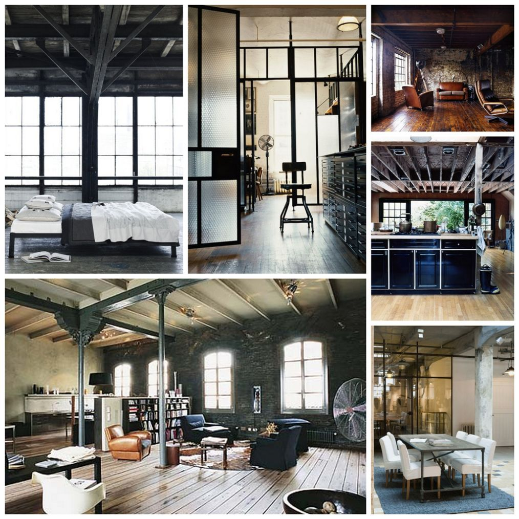 Industrial Interior Design Style: Description and Photos. Large and also light living spaces