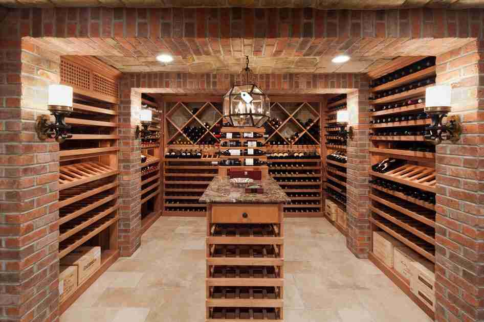 Wine cellar at the large chic private house