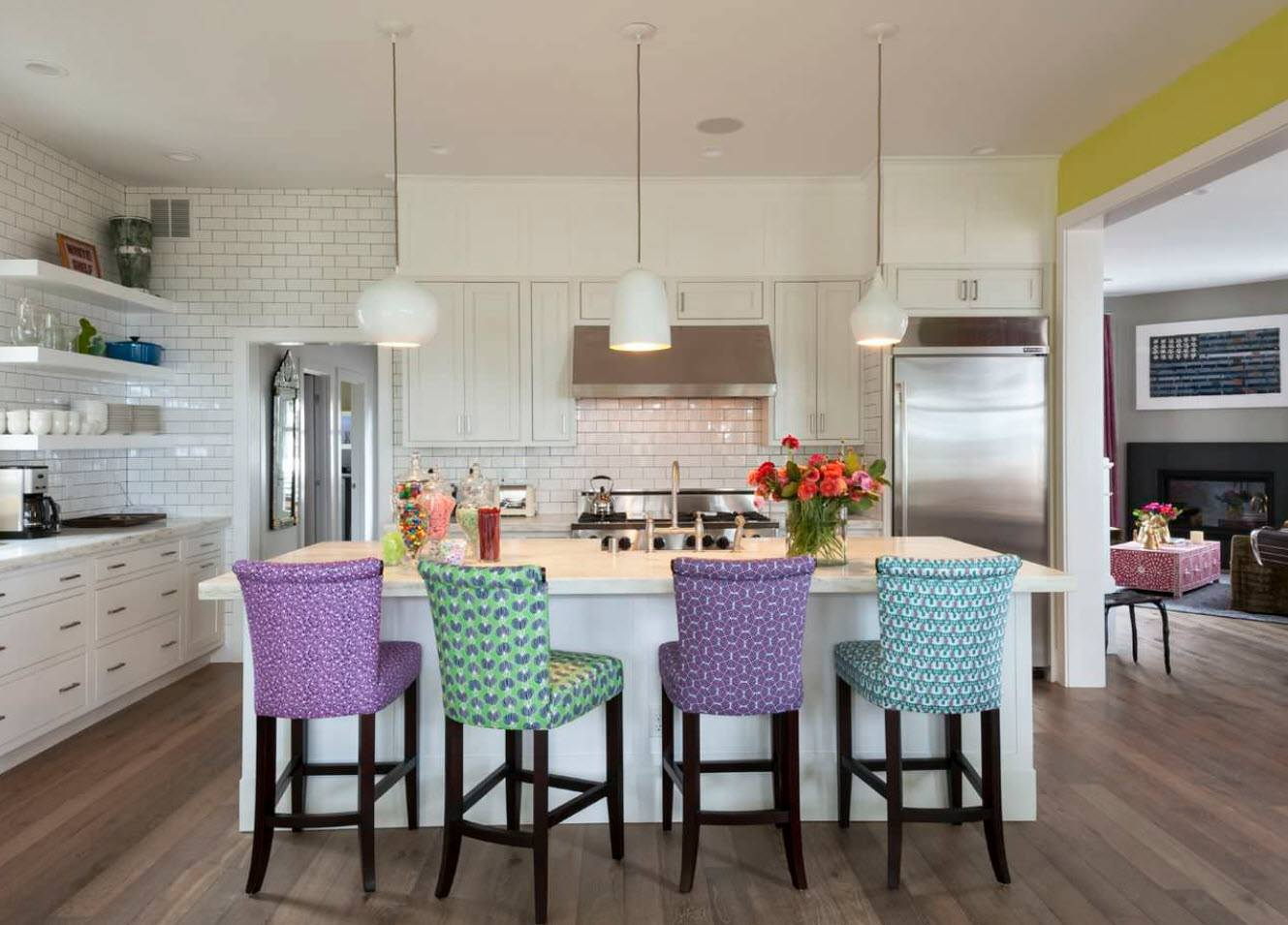 170 Square Feet Kitchen Design Ideas with Photos. Colorful chairs for the contemporary styled kitchen