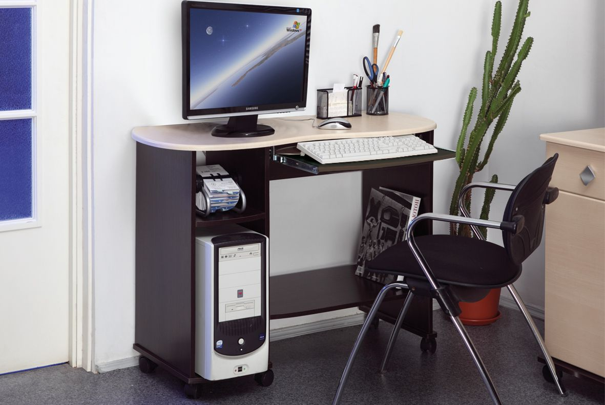 Computer Desk: Large Photo Collection of Organizing the Workspace. Furniture set for the desktop