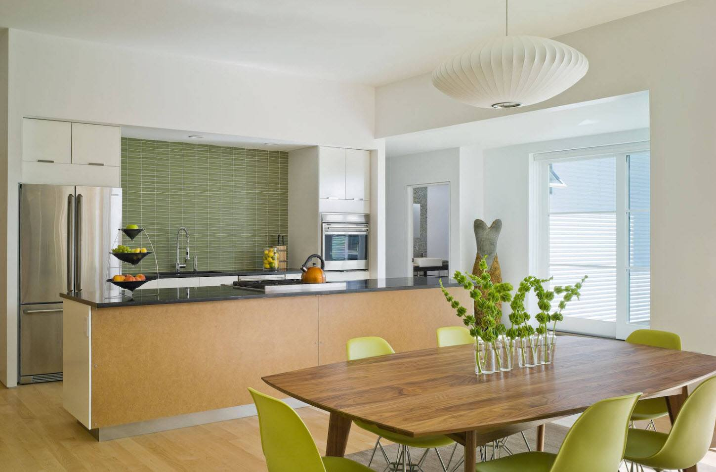 170 Square Feet Kitchen Design Ideas with Photos. Lime and olive colors for the modern room styling