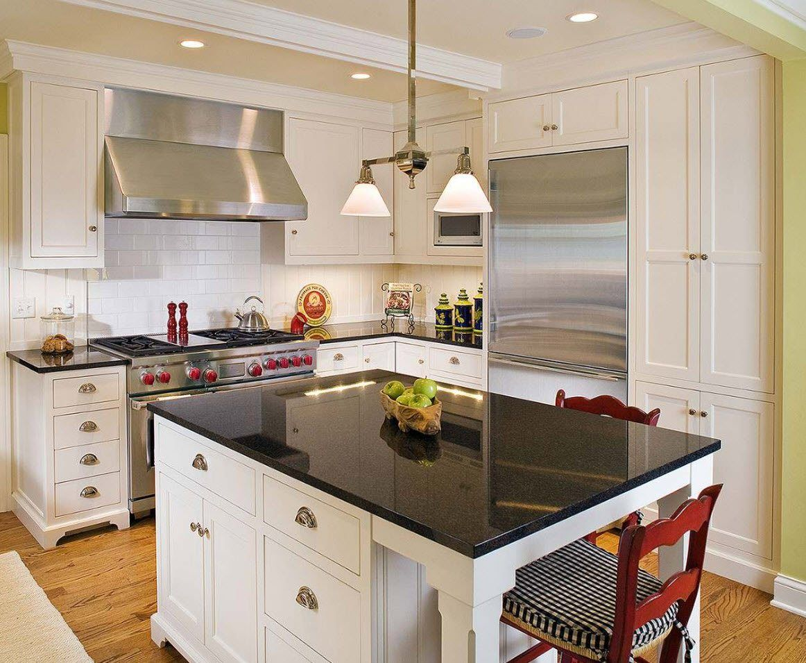 170 Square Feet Kitchen Design Ideas with Photos. Steel surfaces for the French styled space