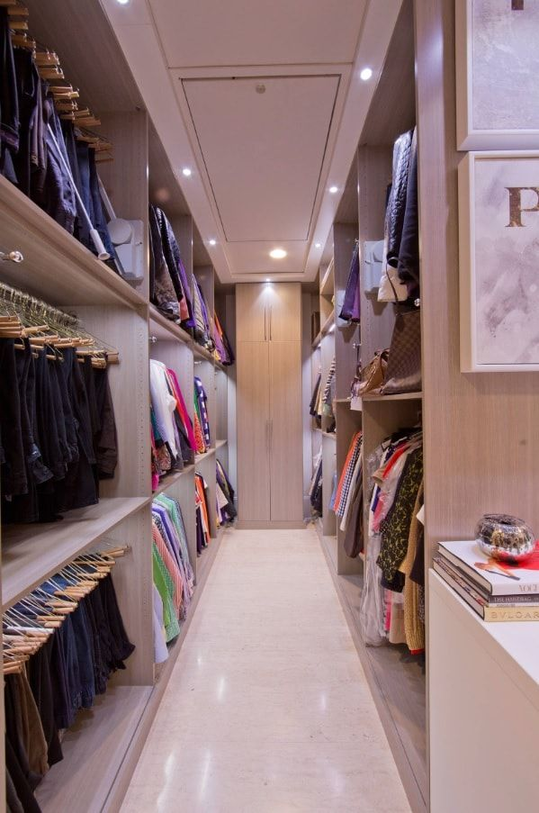 Attic Walk in Closet Ideas: Designing your Loft with Style and Functionality. Beige modern decorated dressing room at the top of the house