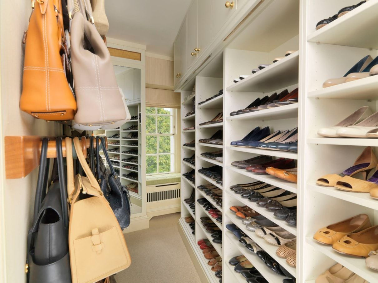 Attic Walk in Closet Ideas: Designing your Loft with Style and Functionality. Improvised open storage for shoes with small casement window