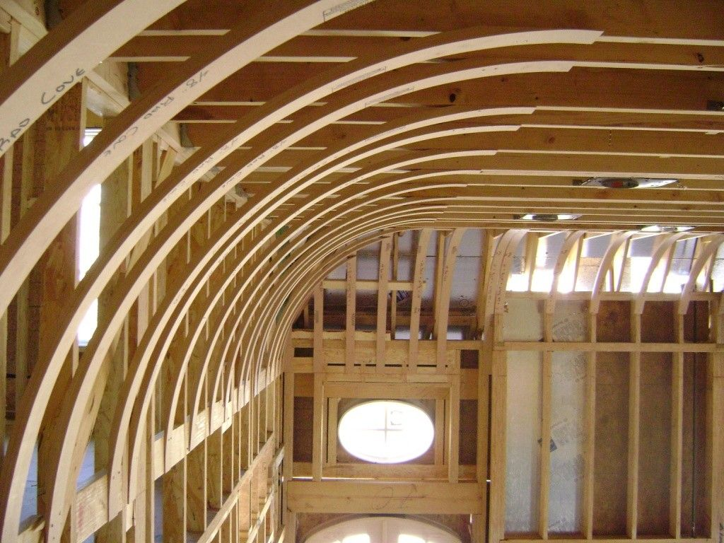 Wooden construction of the interior vault
