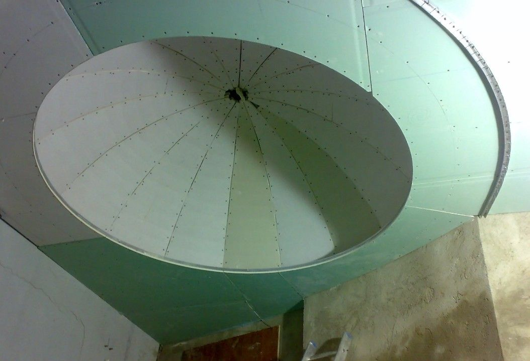 The dome made of gypsum board