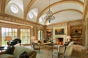 Vaulted Ceiling: Main Principles of Constructing and Finishing. Classic styled cottage with arched ceiling