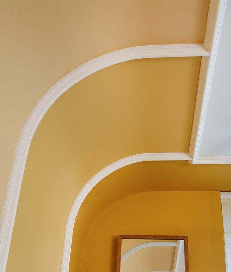 Vaulted Ceiling: Main Principles of Constructing and Finishing. Different colors for the arch