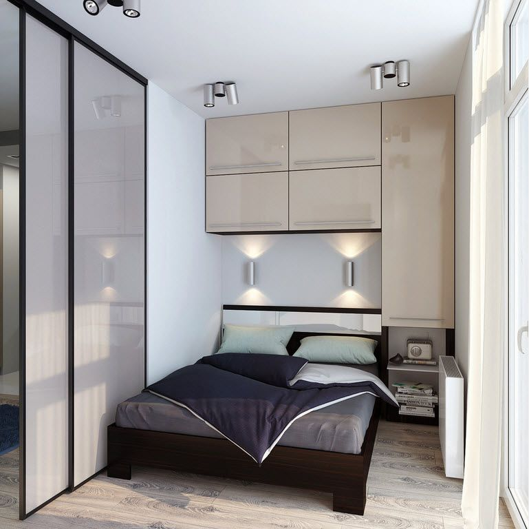 Nice small bedroom with modular cabinet