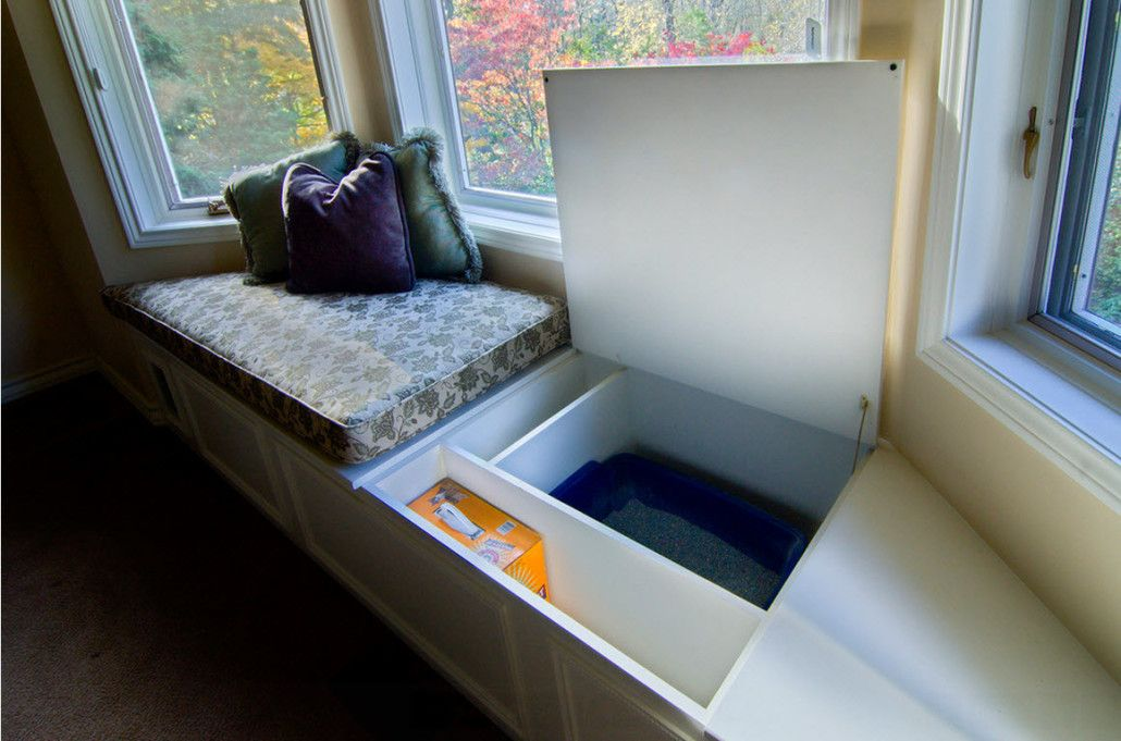 Unusual opening up sleeper at the window with storage