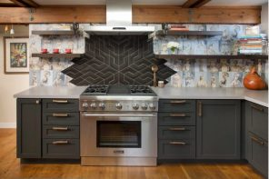 Splashback Interior Design Ideas: Complement your Kitchen. Nice decoration of the wall above the stove