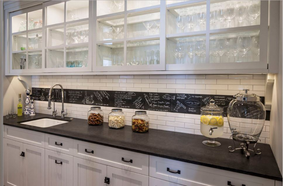 Splashback Interior Design Ideas: Complement your Kitchen. Classic kitchen full of natural light