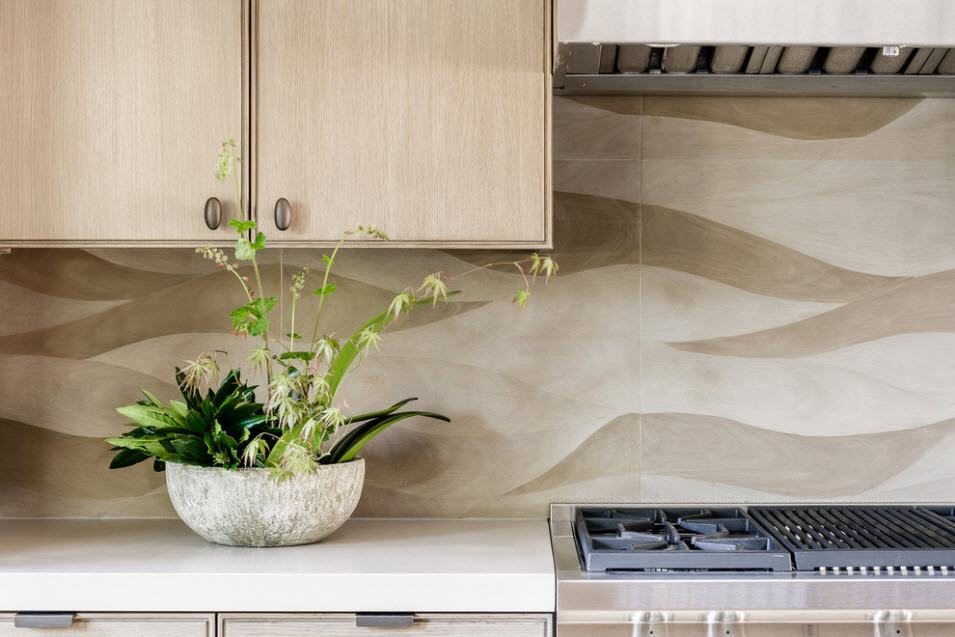Backsplash Interior Design Ideas: Complement your Kitchen. Wall panels for modern kitchen in brown and gray tones