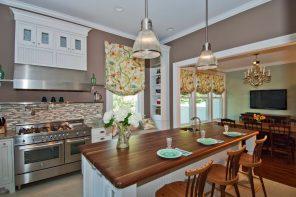 Kitchen Curtain Ideas with Photos, Types, Advice on Selection