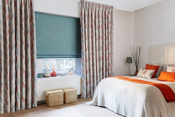Colorful pattern for modern designed bedroom curtains