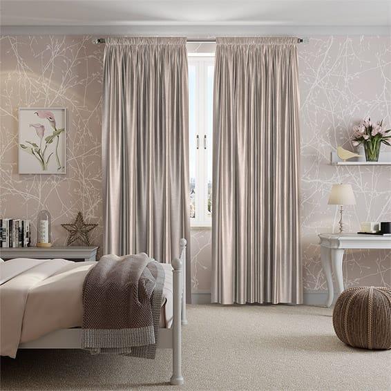 Gray decorated bedroom in Scandi minimalism