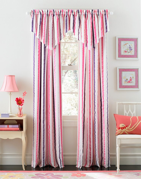 Bedroom Curtains: Full Guide on How to Decorate the Windows. Pinkish color gamma for curtains with lambrequin