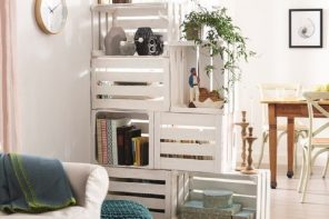Wooden Boxes for Storage as Effective DIY Furniture Ideas. Yet another successful example of zoning rack made of wooden pallets