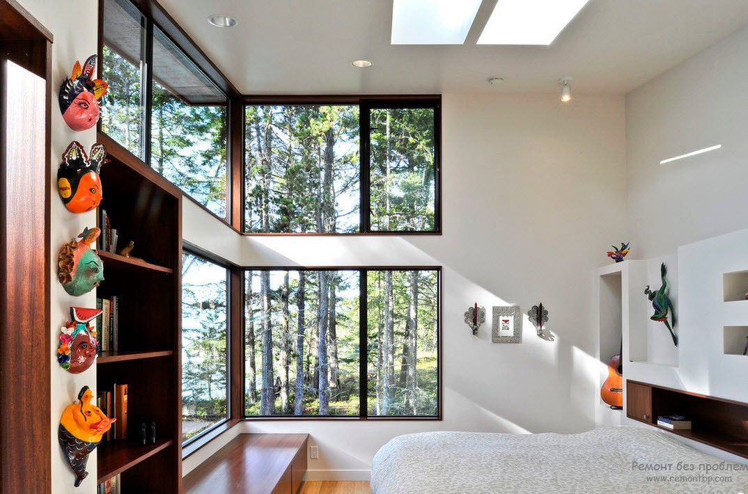 Window Design in the Bedroom for Ultimate Coziness and Comfort. High panoramic windows for maximum natural light and chic outside view