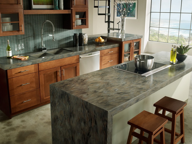 Top 10 most Popular Mistakes when Designing a Kitchen. Concrete kitchen island in the Classic interior