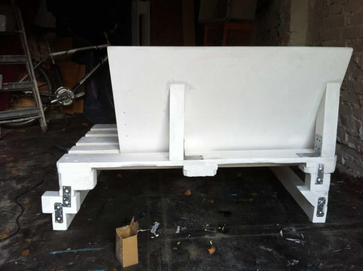Corner sofa DIY assembling: step 9